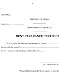Land rent clearance certificate